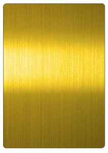 304 Decorative Gold Hairline Color Stainless Steel Sheets pictures & photos