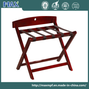 Walnut Finish Solid Wood Hotel Stand Holder Folding Luggage Rack pictures & photos