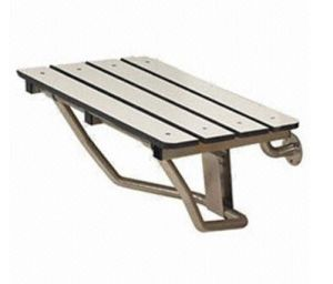 Teak Folding Shower Seat Bench Finished Chrome SPA Bath pictures & photos