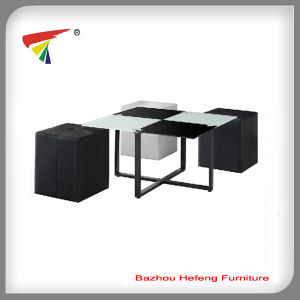 Modern and Luxury Tempered Glass Coffee Table (CT024) pictures & photos