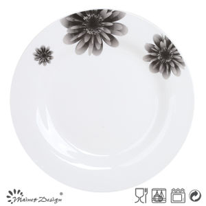 "10.5"" Round Ceramic Decal Porcelain Plate pictures & photos"