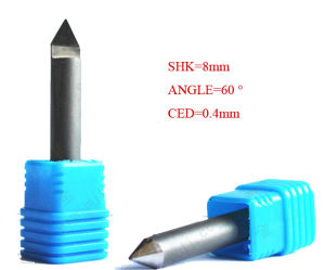 60 Degree PCD Diamond CNC End Mill Bits Cutter for Granite Stone pictures & photos