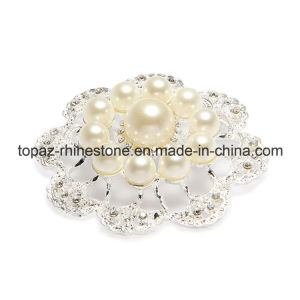 Fashion Jewelry Imitation Pearls Crystal Brooch Pin (TB-037) pictures & photos
