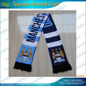 100% Acrylic Custom Soccer Fan Scarf (M-NF19F10022) pictures & photos