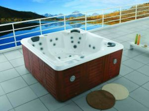 2.2 Meters Deluxe Hotel Square Oudoor SPA Tub pictures & photos