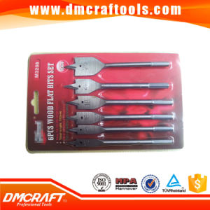 High Quality 6 PCS Flat Wood Drill Bits Set pictures & photos