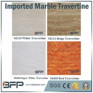 White/Super White/Red/Beige Travertine Marble Floor Tile for Projects Wall/Flooring/Countertops pictures & photos