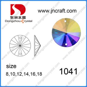 Mirror-Surface Flat Back Glass Stone for Wholesale pictures & photos
