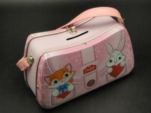 Purse Shape Handbag Gift Tin Box for Little Girl
