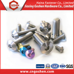 Gold China Supplier Aluminum Allen Head Bolts pictures & photos