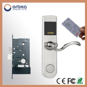 Hotel Card Key Lock System LCD Screen Smart Lock for Europe Market pictures & photos