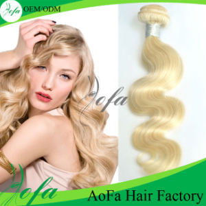 Loose Wave Blonde 100% Human Virgin Hair Weft pictures & photos