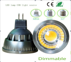 5W Dimmable MR16 COB LED Lighting pictures & photos