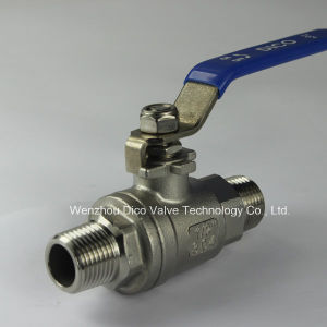NPT Male Thread 2PC Ball Valve with Locking Device pictures & photos