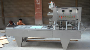 Linear Type Milk Tea Automatic Water Cup Filling Machine pictures & photos