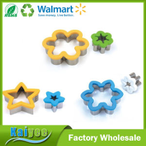 Kitchen Bakeware Stainless Steel Cookie Cutters with Mobile Silicone Edge pictures & photos