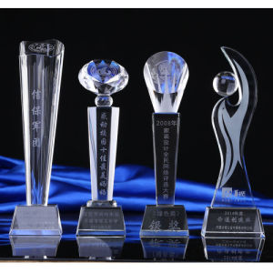 2017 Popular Black Base Crystal Trophy Award pictures & photos