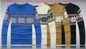 Men′s Knitted Pullover Sweater (0150) pictures & photos