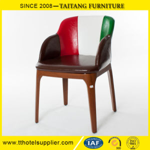 Fashion Restaurant PU Seat Arm Dining Chair pictures & photos