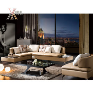 Leather Sofa with End Table (310)