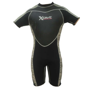 Short Neoprene Surfing Wetsuit with Nylon Fabric (HX15S19) pictures & photos