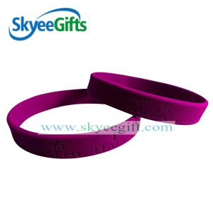 1/2 Inch Blank Silicone Wristband pictures & photos