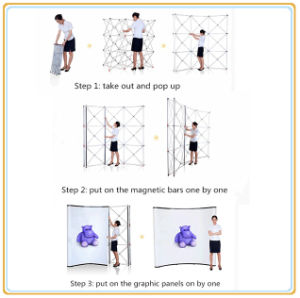 Portable Exhibition Pop up Booth Backdrop Displays Stands pictures & photos