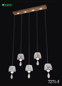 Hot Sale Modern Hotel Decorative Crystal Chandelier Pendant Lamp Byzg 7271-5