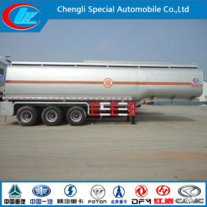 40cbm 3 Axles Stainless Steel Fuel Tank Semi Trailer pictures & photos