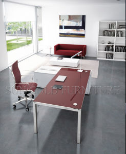 Modern latest Executive Office Table Design with Glass Desktop (SZ-OD493) pictures & photos