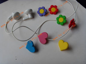 Soft PVC Cable Clamp, Heart&Flower Rubber Cable Clamp, Debossed, Embossed or Filled Colors