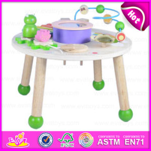 2015 Hot Educational Wooden Activity Music Table, Multi-Functional Kids Wooden Musical Table, Wooden Learning Music Table W07A090 pictures & photos
