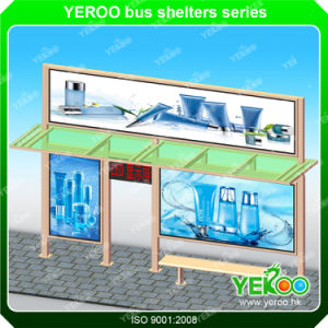 Outdoor Prefabricated Customized Solar Bus Station Aluminium Furniture Bus Stop Shelters Design pictures & photos