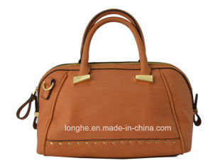 PU Front Studs Decoration Tote Bag Women′s Designer Handbags pictures & photos
