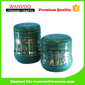Kitchen Food Canisters Set 2 Ceramic Tea Canister pictures & photos