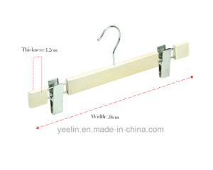 Clothes Clothing Type Garment Usage Wooden Pants / Trousers Hanger with Chrome Asessorise (YLWDP-b8) pictures & photos