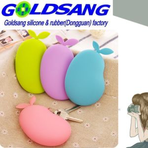 Hot Selling Silicone Pear Proofwater Key Bag/Coin Bag pictures & photos