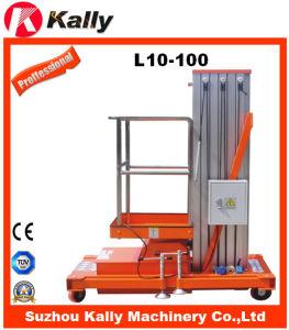 10m Single Mast Aluminum Alloy Aloft Man Elevator (L10-100)