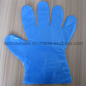 Ly Disposable Blue PE Gloves pictures & photos