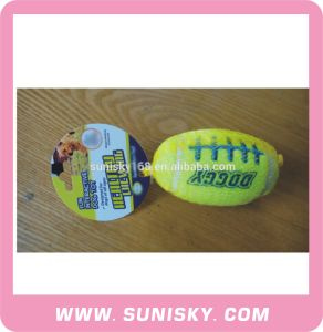 Fuzzy Rugby Toy with Sounds for Dogs pictures & photos