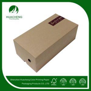 Simple Style Kraft Paper Boxes/Cardboard Shoe Kraft Box (HC0139)