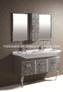Double Sink Stainless Steel Bathroom Cabinet pictures & photos