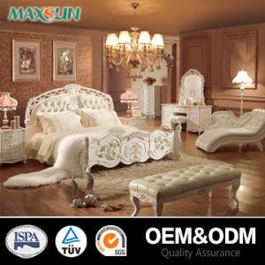 Classical Solid Bedroom Wood Bed Set (MT-07181)