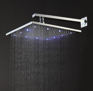 Blue-Purple-Red 300mm Square Brass LED Shower Head pictures & photos
