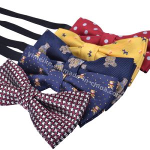 Lovely New Fashion Polyester Jacquard Cartoon Baby Kids Elastic Cord Bowtie pictures & photos
