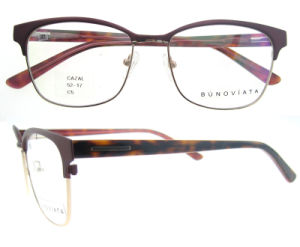 Wholesale OEM ODM Italy Design Eyeglasses with Clear Lens Metal Eyeglasses pictures & photos