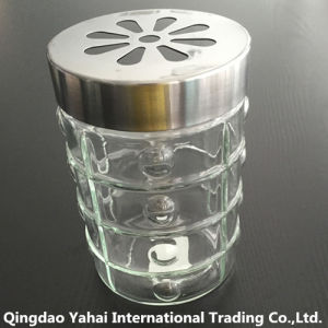 1200ml Clear Glass Storage Jar with Metal Lid pictures & photos