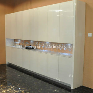 High Gloss Pure White Lacquer Kitchen Cabinet