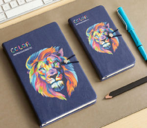 Custom Printing PU Leather Notebooks with Pocket pictures & photos