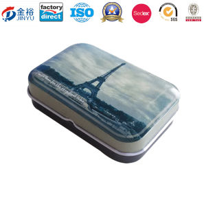 Hot Sale Metal Hinged Tin with Factory Directly pictures & photos